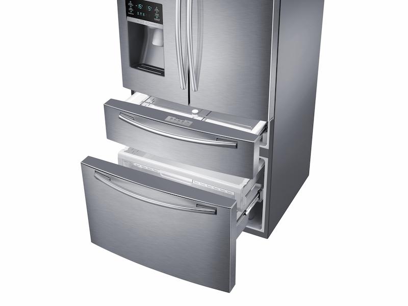 25 Cu Ft French 4 Door Refrigerator Rf25hmedbsr Aa