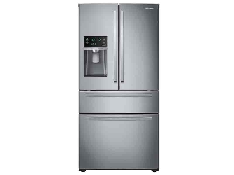 25 cu. ft. Large Capacity 4-Door French Door Refrigerator with External Water & Ice Dispenser in Stainless Steel