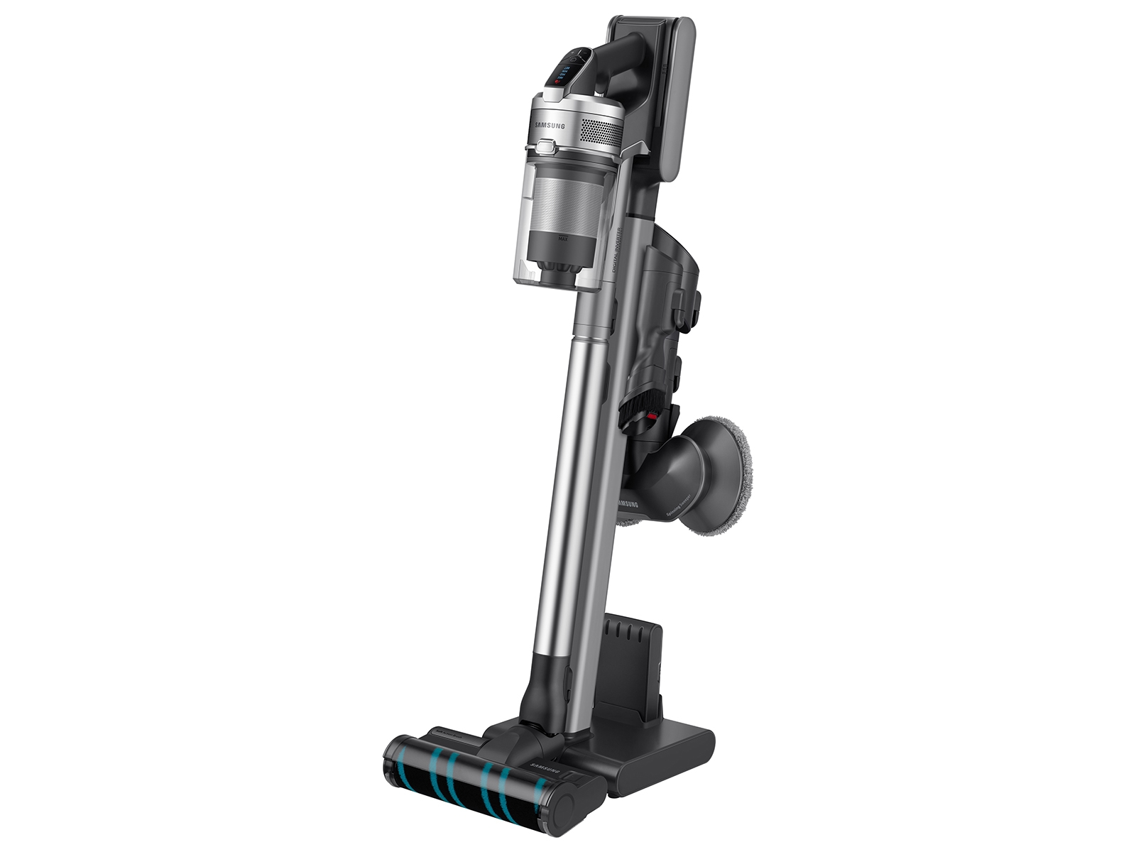 Jet VS90 Stick Vacuum with Spinning Sweeper in Titan ChroMetal