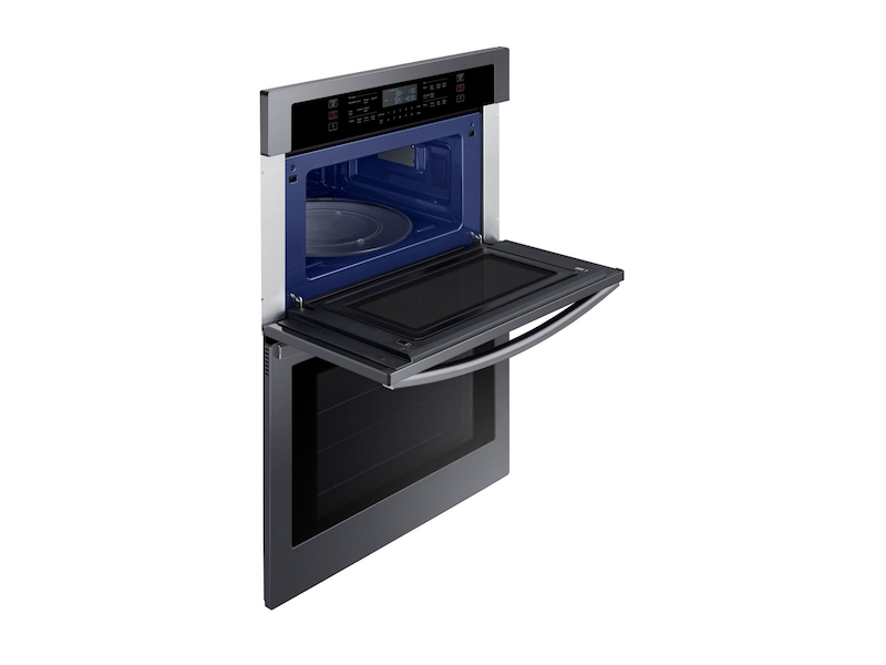 30 Inch Microwave Combination Wall Oven In Black Stainless