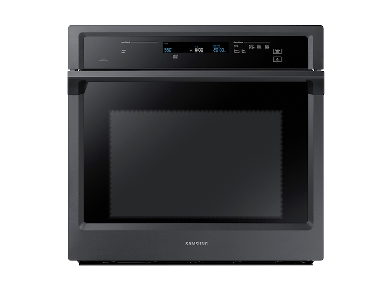 30 Inch Single Wall Oven In Black Stainless Steel Wall Oven Nv51k6650sg Aa Samsung Us
