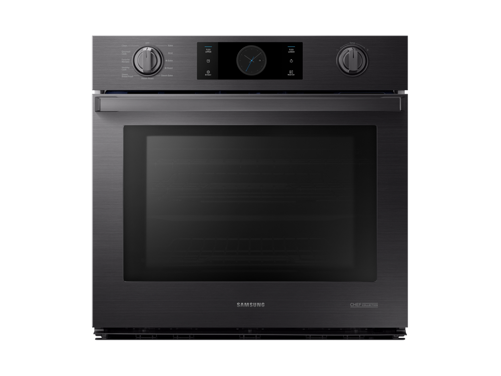 """30"""" Flex Duo Chef Collection Single Wall Oven in Matte Black Stainless Steel"""