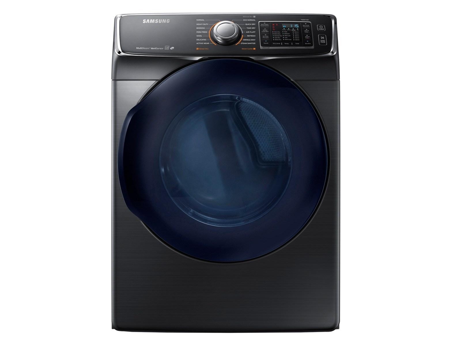 Samsung 7.5 cu. ft. Electric Dryer in Black Stainless Steel, Fingerprint Resistant Black Stainless Steel