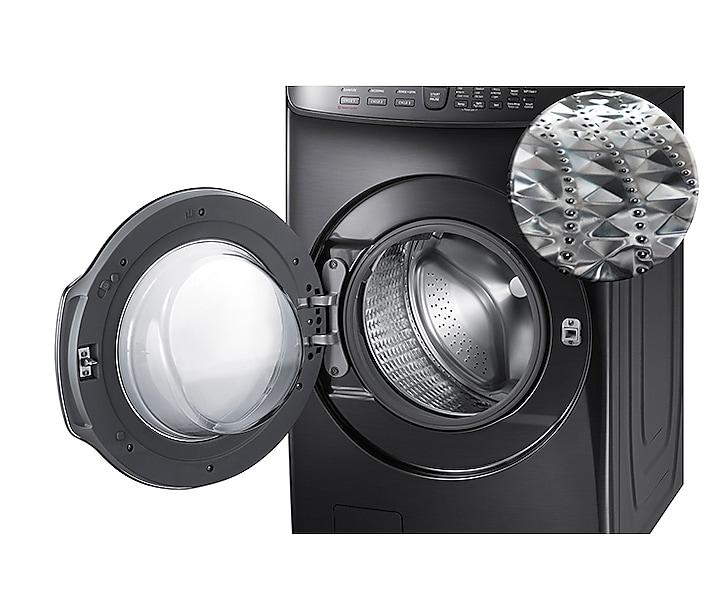 5 5 Cu Ft Flexwash Washer In Black Stainless Steel Washer Wv55m9600av A5 Samsung Us