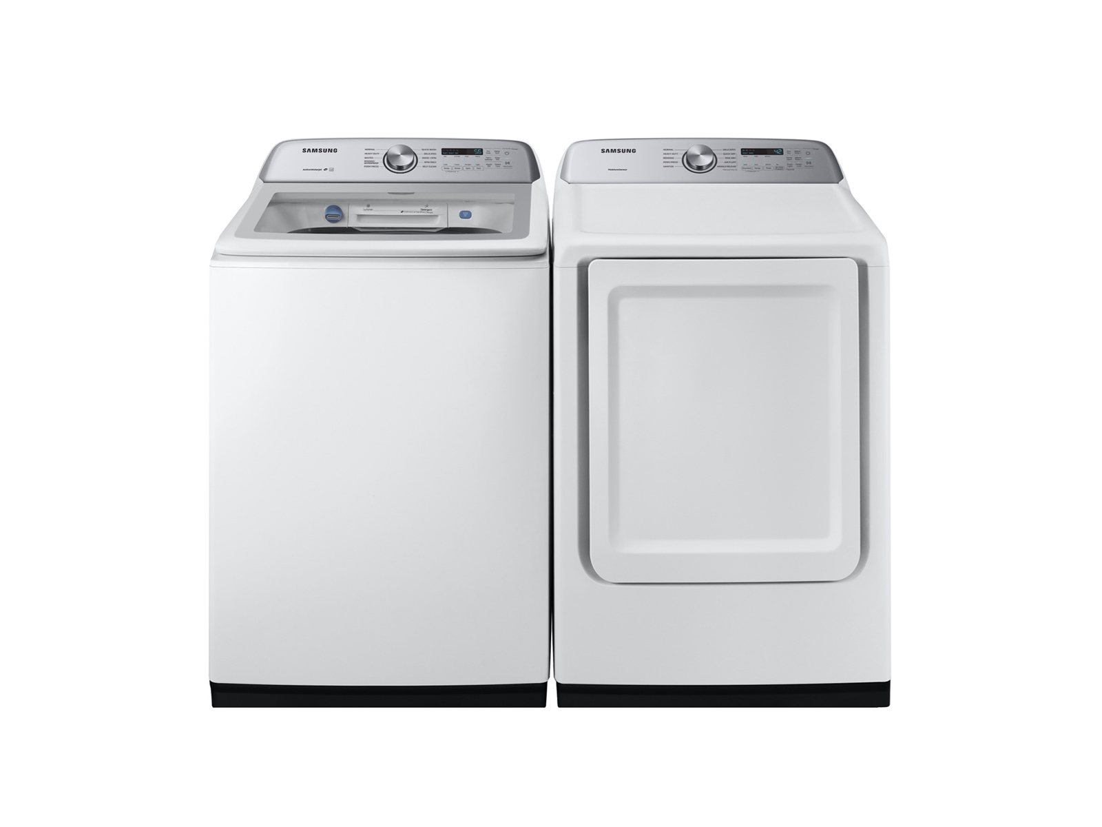 Samsung Top Load Washer & Dryer set with Active Water Jet and Sensor Dry in White - Laundry Washing Machine
