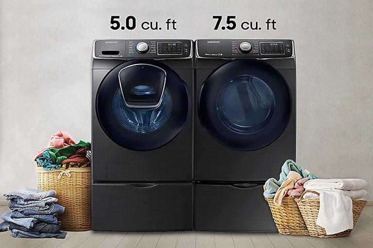 WF7500 5.0 cu. ft. AddWash™ Front Load Washer Washers - WF50K7500AV on mobile washer and dryer, mobile home kitchens, mobile home patios, mobile home fireplace, mobile home sink, mobile home bathrooms, mobile home ovens,