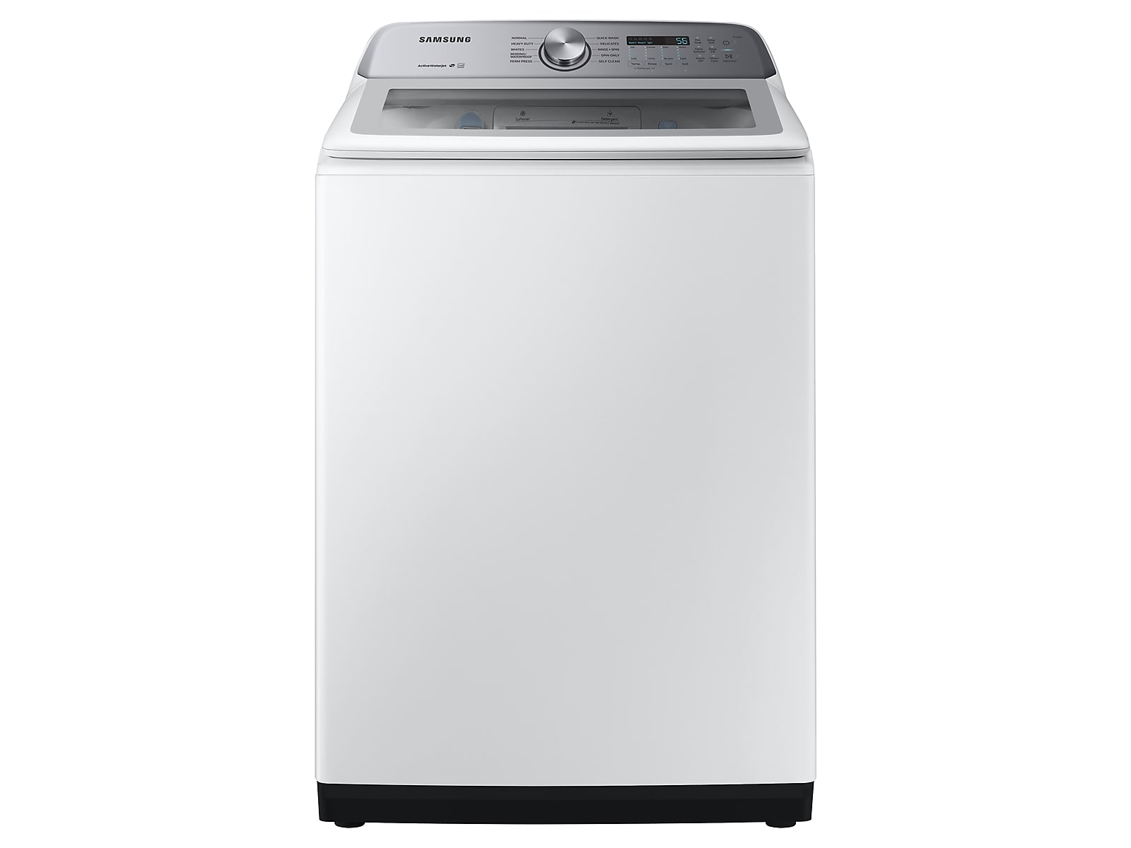 Samsung 5.0 cu. ft. Top Load Washer with Active WaterJet in White(WA50R5200AW/US)
