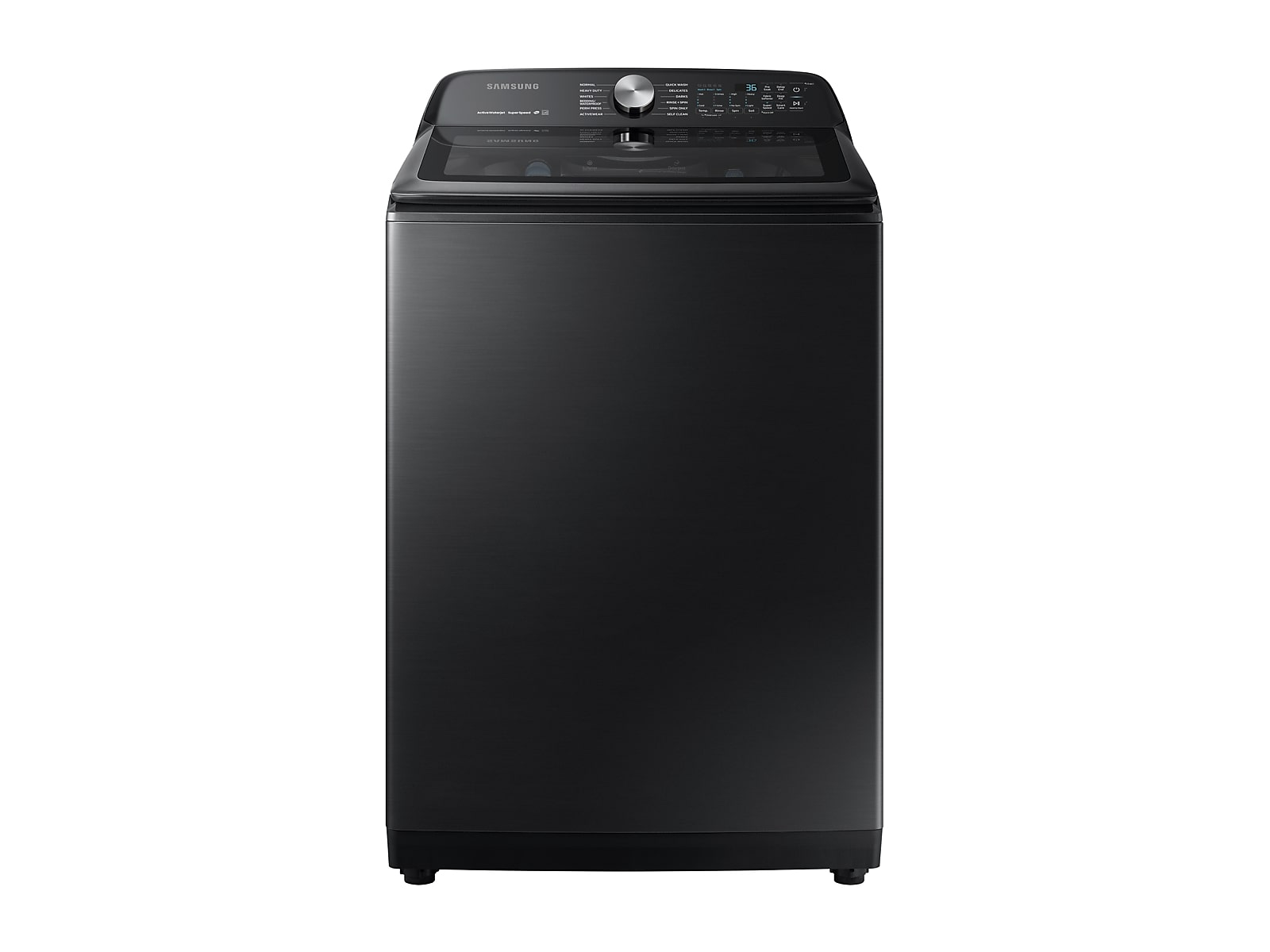 Samsung 5.0 cu. ft. Top Load Washer with Super Speed in Black Stainless Steel(WA50R5400AV/US)