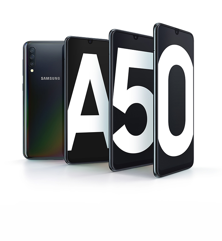 Get the Unlocked Galaxy A50 <br> on us, with eligible trade-in.ᶿ