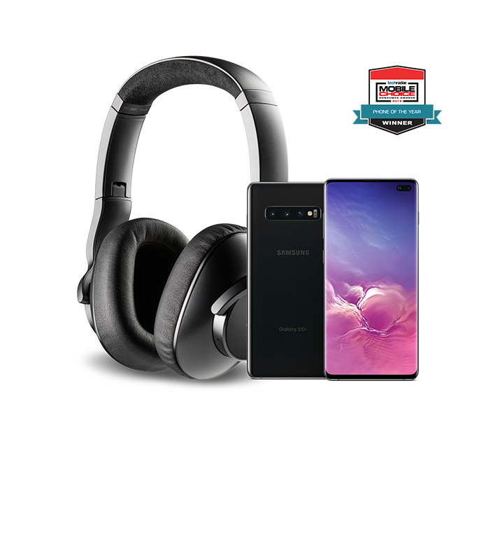 Unlocked Galaxy S10<br>plus free headphones from $589.99