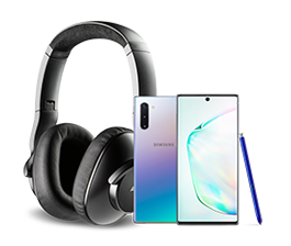 Unlocked Galaxy Note10<br>plus free headphones from $449.99
