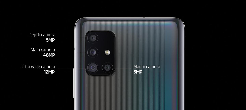 4 Camera sau trên Samsung Galaxy A71 5G