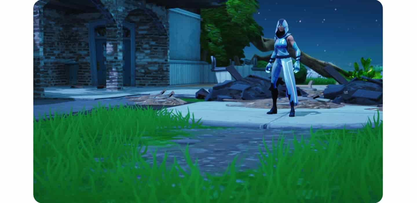 A highlight video for the new Samsung Galaxy Fortnite outfit, GLOW, and Fortnite Levitate emote. The thumbnail has a Fortnite character wearing the GLOW outfit posing with energy emanating from her hands.