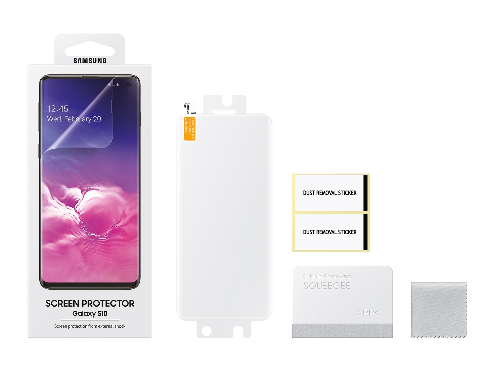 Galaxy S10 Screen Protector Transparent Mobile Accessories Et Fg973ctegus Samsung Us
