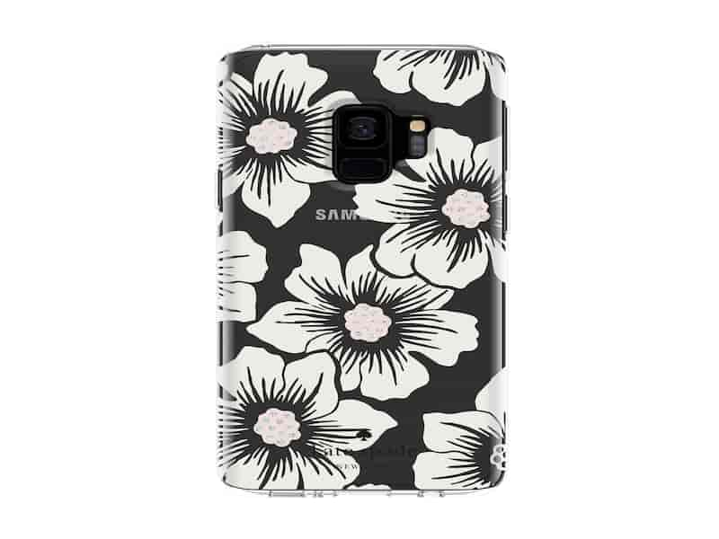 Kate Spade Protective Hardshell Case for Galaxy S9, Hollyhock