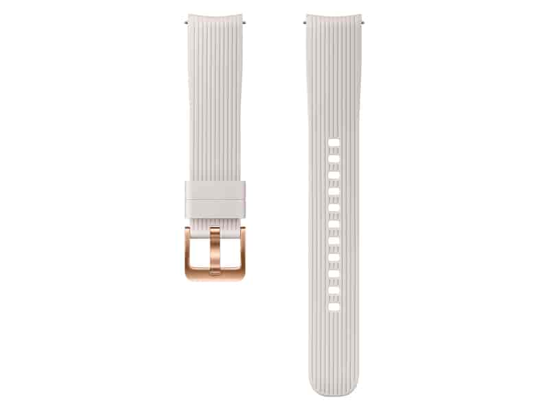 Silicone Band for Galaxy Watch 42mm, Silver