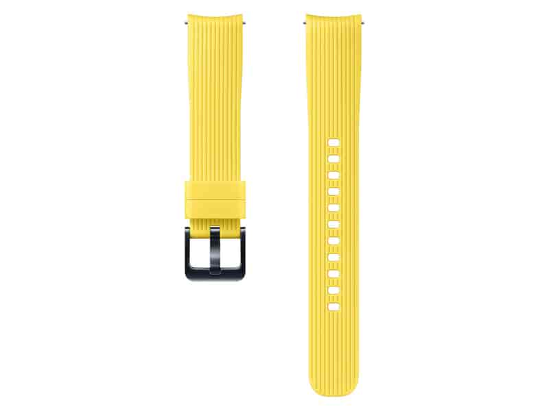 Silicone Band for Galaxy Watch 42mm, Yellow