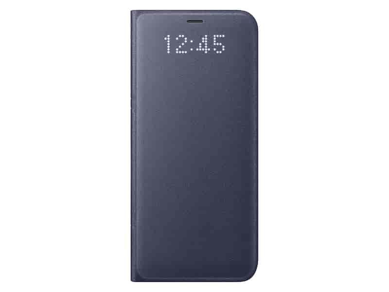 Galaxy S8 LED Wallet Cover, Orchid Gray