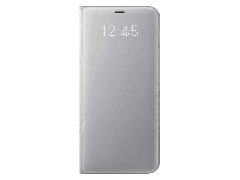 Galaxy S8+ LED Wallet Cover, Silver