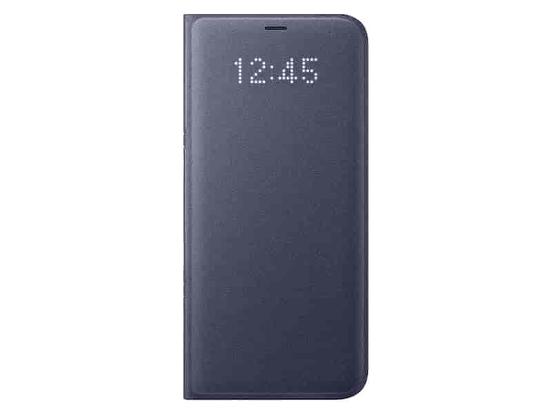 Galaxy S8+ LED Wallet Cover, Orchid Gray