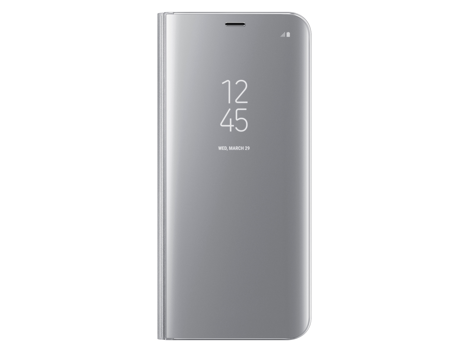 Galaxy S8+ S-View Flip Cover, Silver