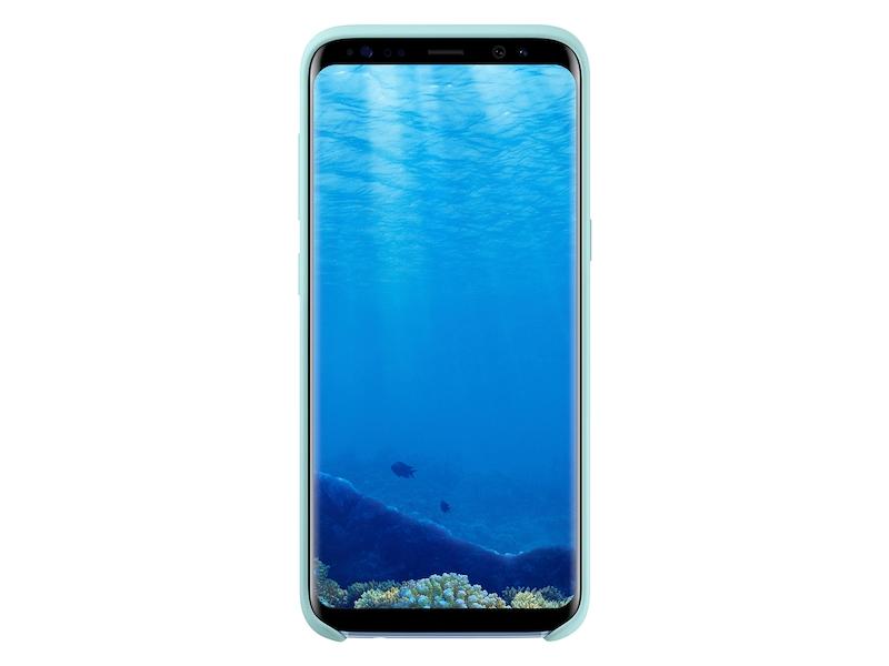 official photos 537a4 037a6 Galaxy S8 Silicone Cover, Blue