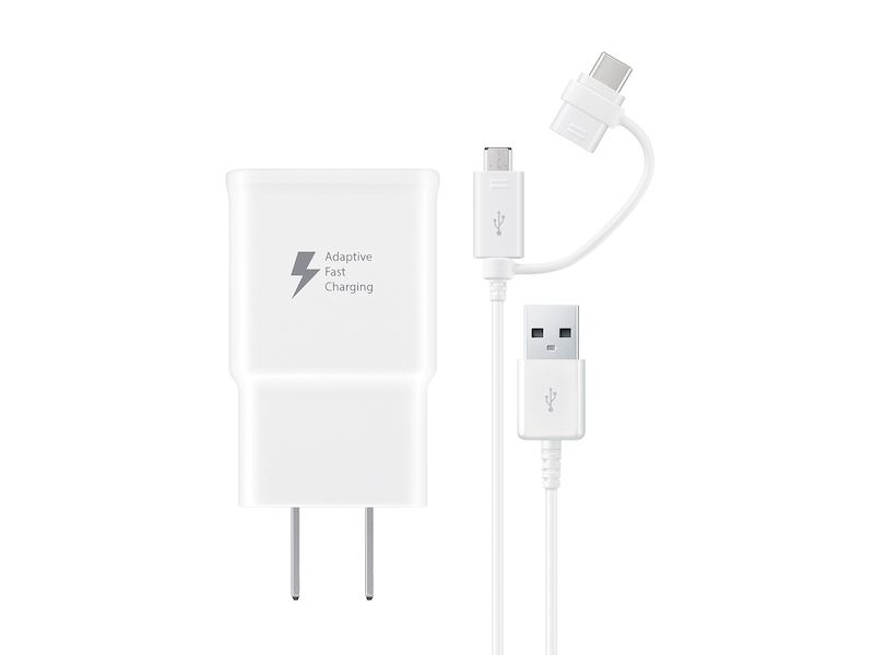Fast Charge Travel Charger with Micro USB and USB-C combo cable, White Mobile Accessories - EP-DG930DWBNDL | Samsung US