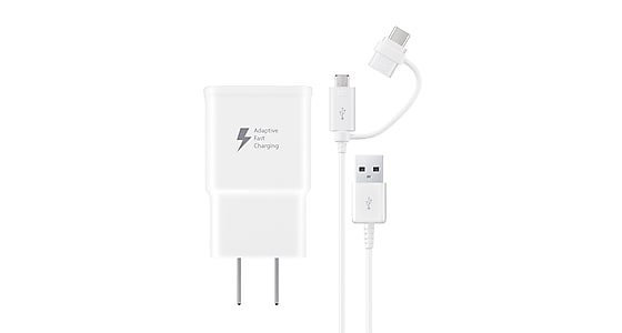 Fast Charge Travel Charger with Micro USB and USB-C combo cable, White Mobile Accessories - EP-DG930DWBNDL   Samsung US