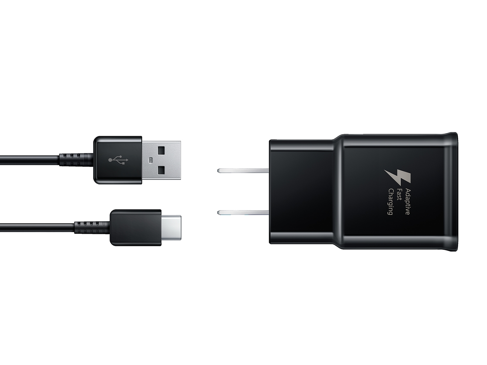 Fast Charge Travel Charger with USB-C cable, Black