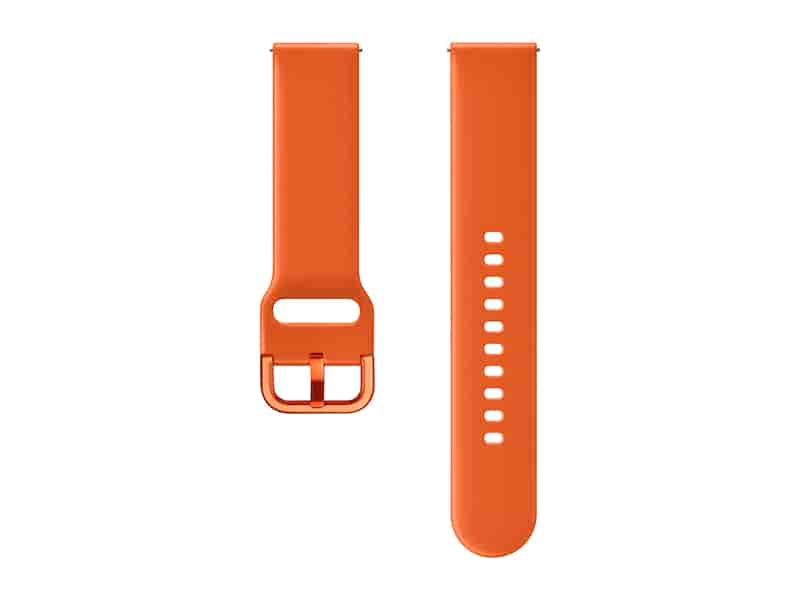 Fluoroelastomer Band for Galaxy Watch Active, Galaxy Watch 42mm, Orange