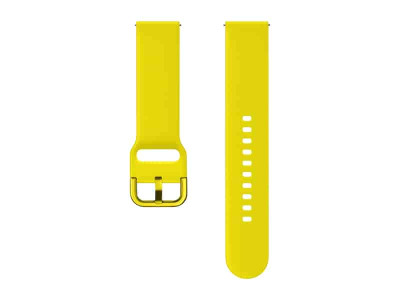 Silicone Band for Galaxy Watch Active, Galaxy Watch 42mm, Yellow