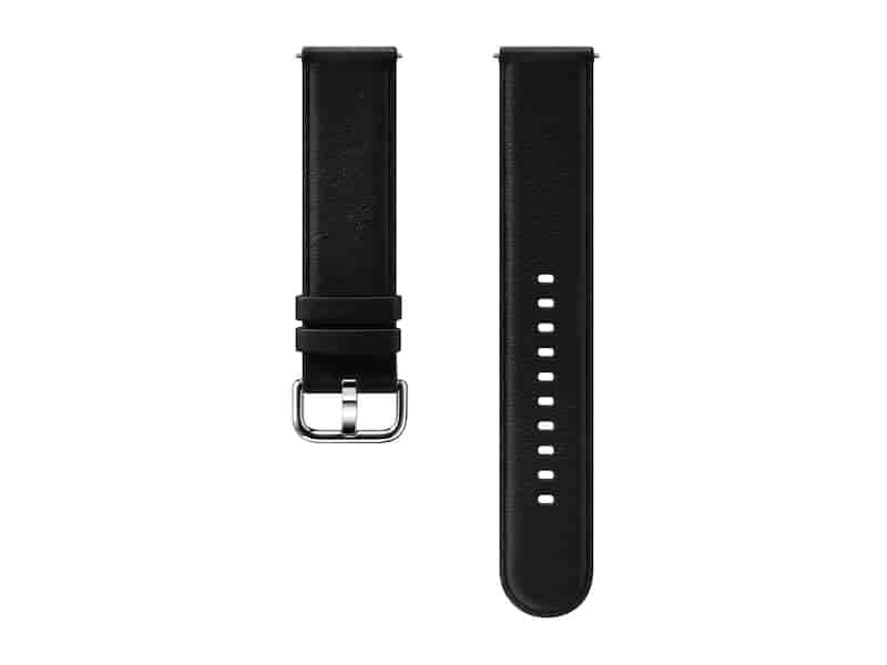 Leather Band for Galaxy Watch Active2, Black