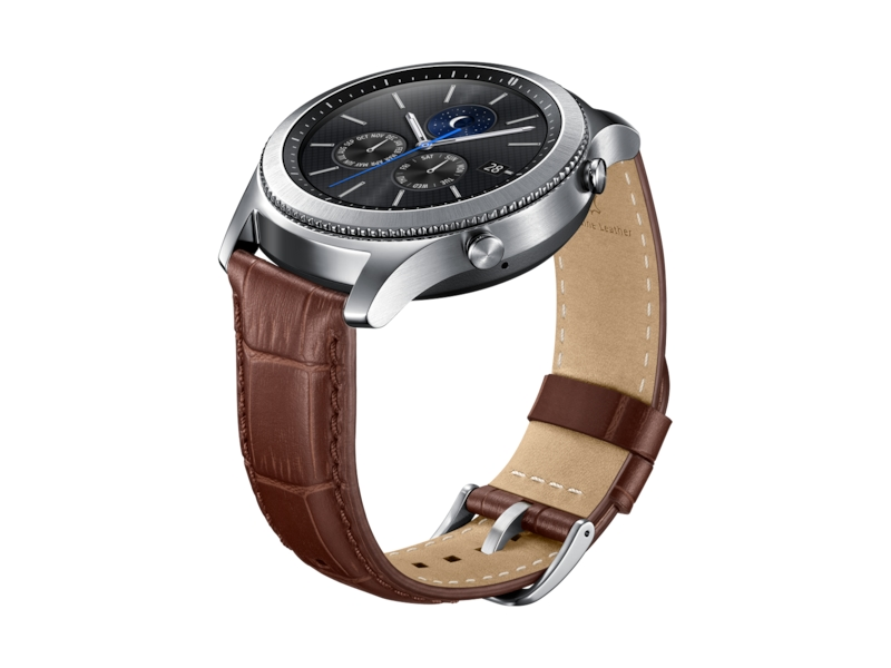 05a1abc3eb9 Gear S3 Alligator Grain Leather Band - Brown Mobile Accessories -  ET-YSA76MDEGUS