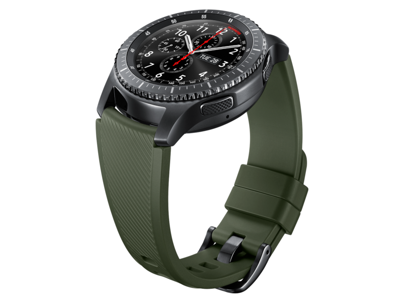 Silicone Band for Galaxy Watch 46mm & Gear S3, Khaki Green