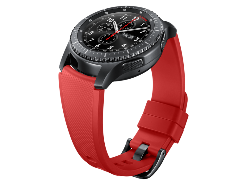 Silicone Band for Galaxy Watch 46mm & Gear S3, Red