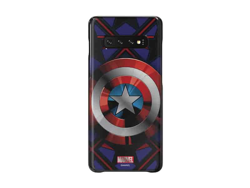 Galaxy Friends Captain America Smart Cover for Galaxy S10+