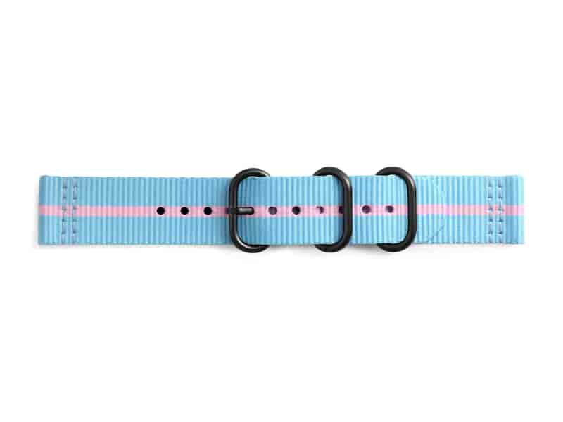 Premium Nato Band for Galaxy Watch 42mm & Gear Sport, Sky Blue-Pink