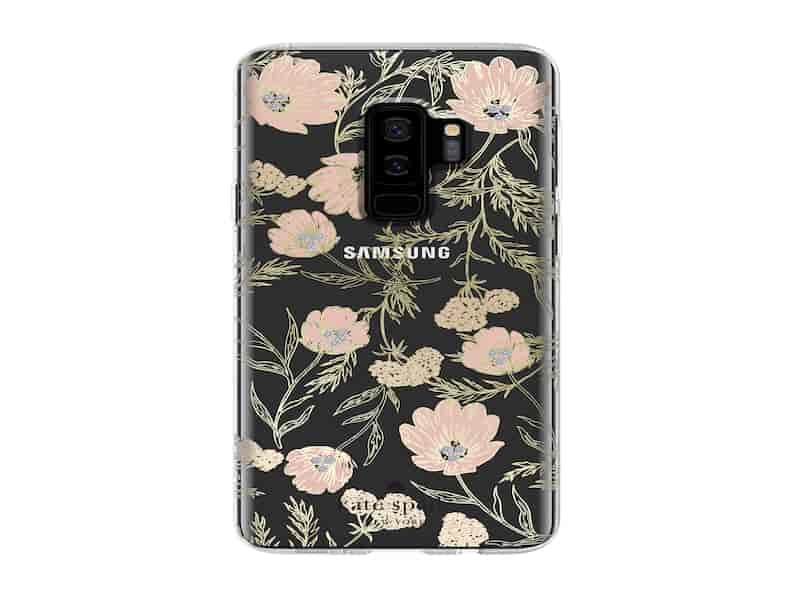 Kate Spade Protective Hardshell Case for Galaxy S9+, Blossom