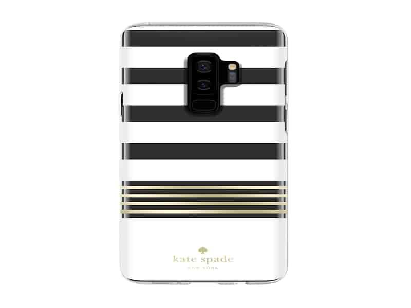 Kate Spade Protective Hardshell Case for Galaxy S9+, Stripe 2