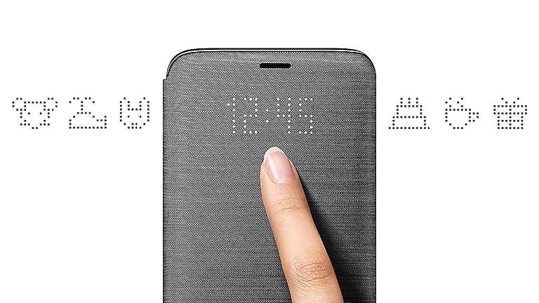 newest b7af8 279f2 Galaxy S9 LED Wallet Cover, Black