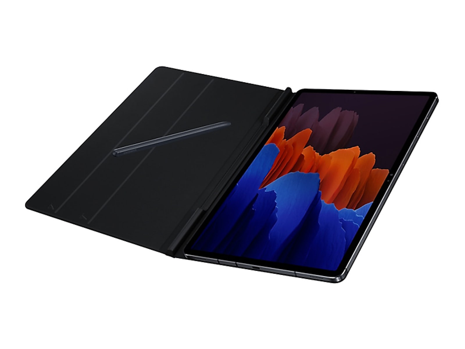 Samsung coupon: Samsung Galaxy Tab S7+ Bookcover - Mystic in Black