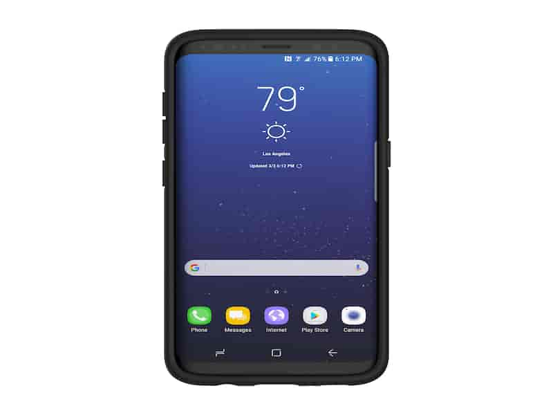 TUMI Leather Co-Mold Case for Galaxy S8, Black
