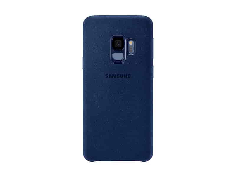 Galaxy S9 Alcantara Cover, Blue