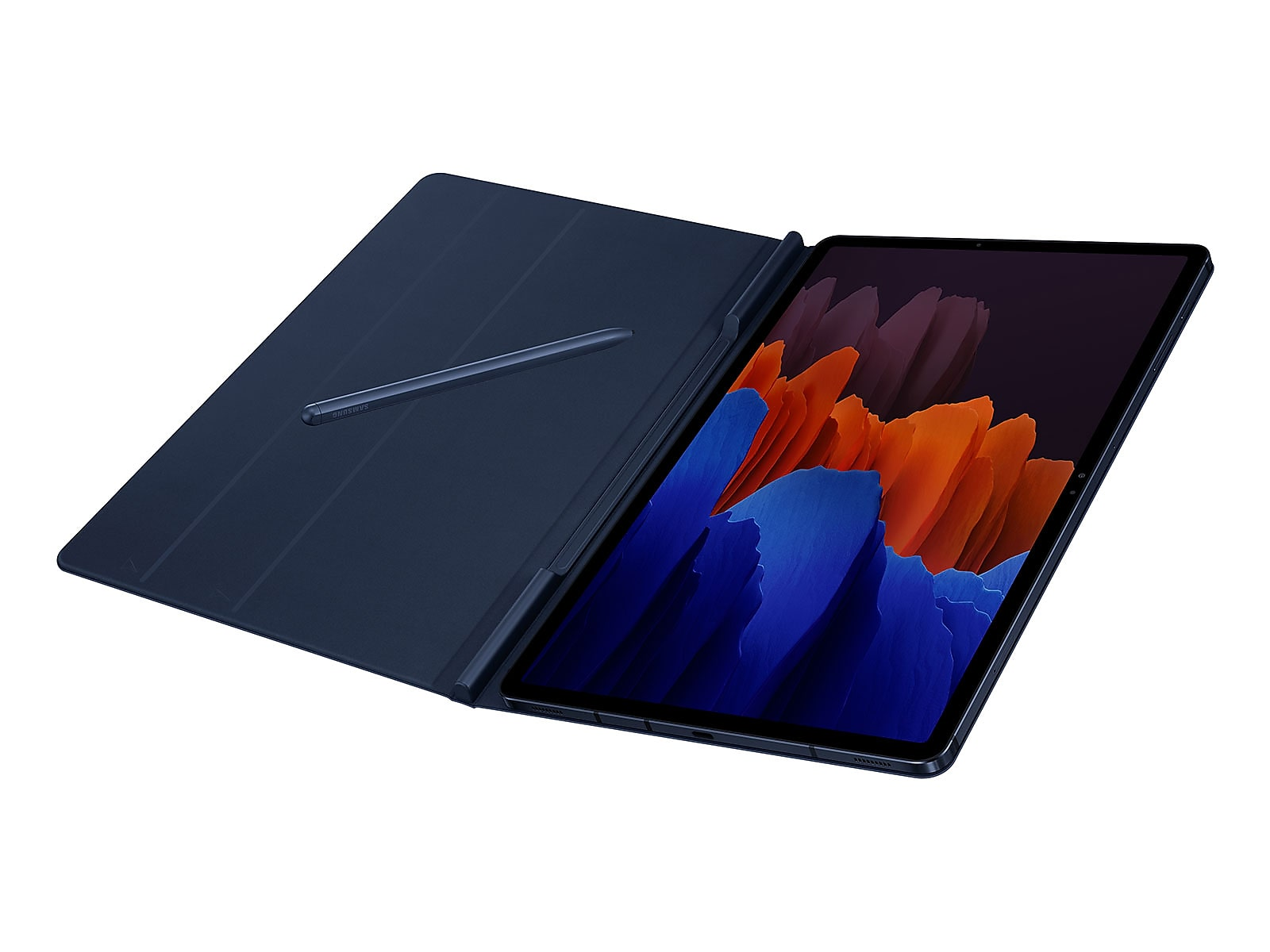 Samsung coupon: Samsung Galaxy Tab S7+ Bookcover - Mystic in Navy Blue