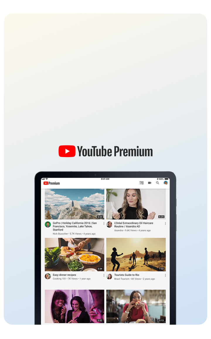 Ad-free YouTube included.