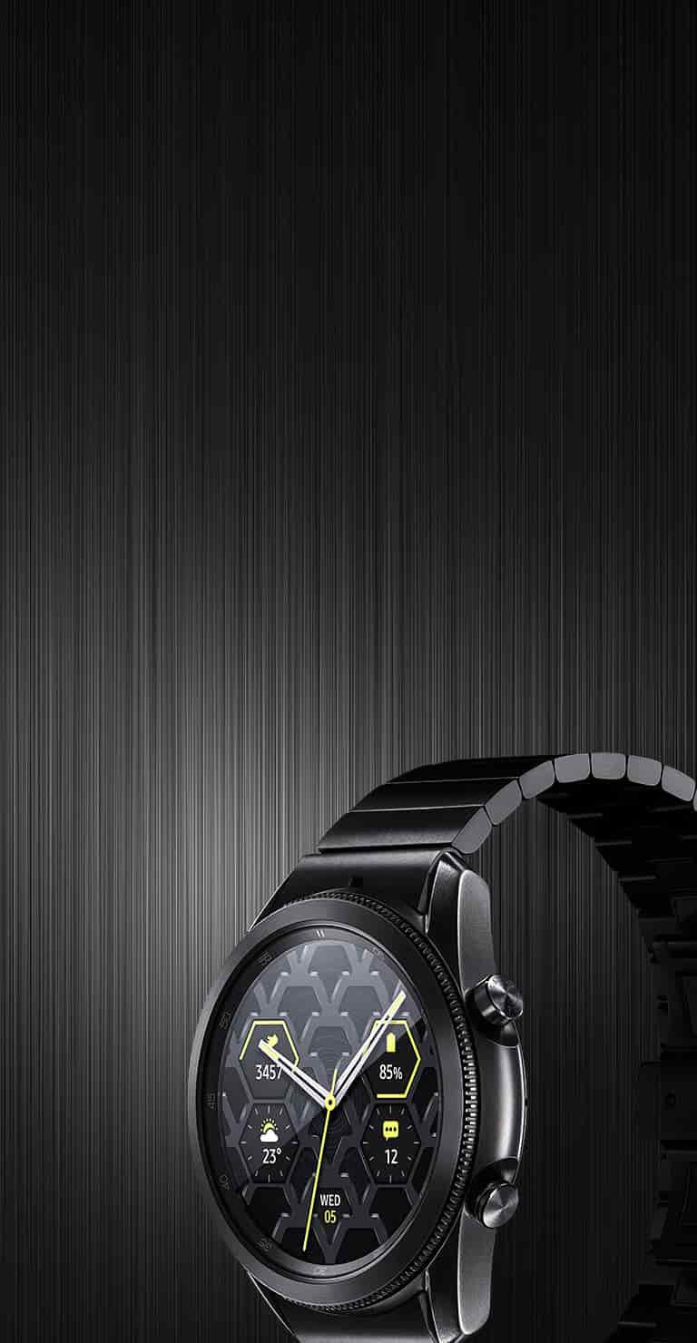 Meet the all new Galaxy Watch3 Titanium