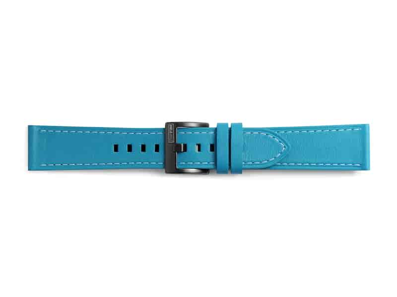 Classic Leather Band for Galaxy Watch 42mm & Gear Sport, Blue