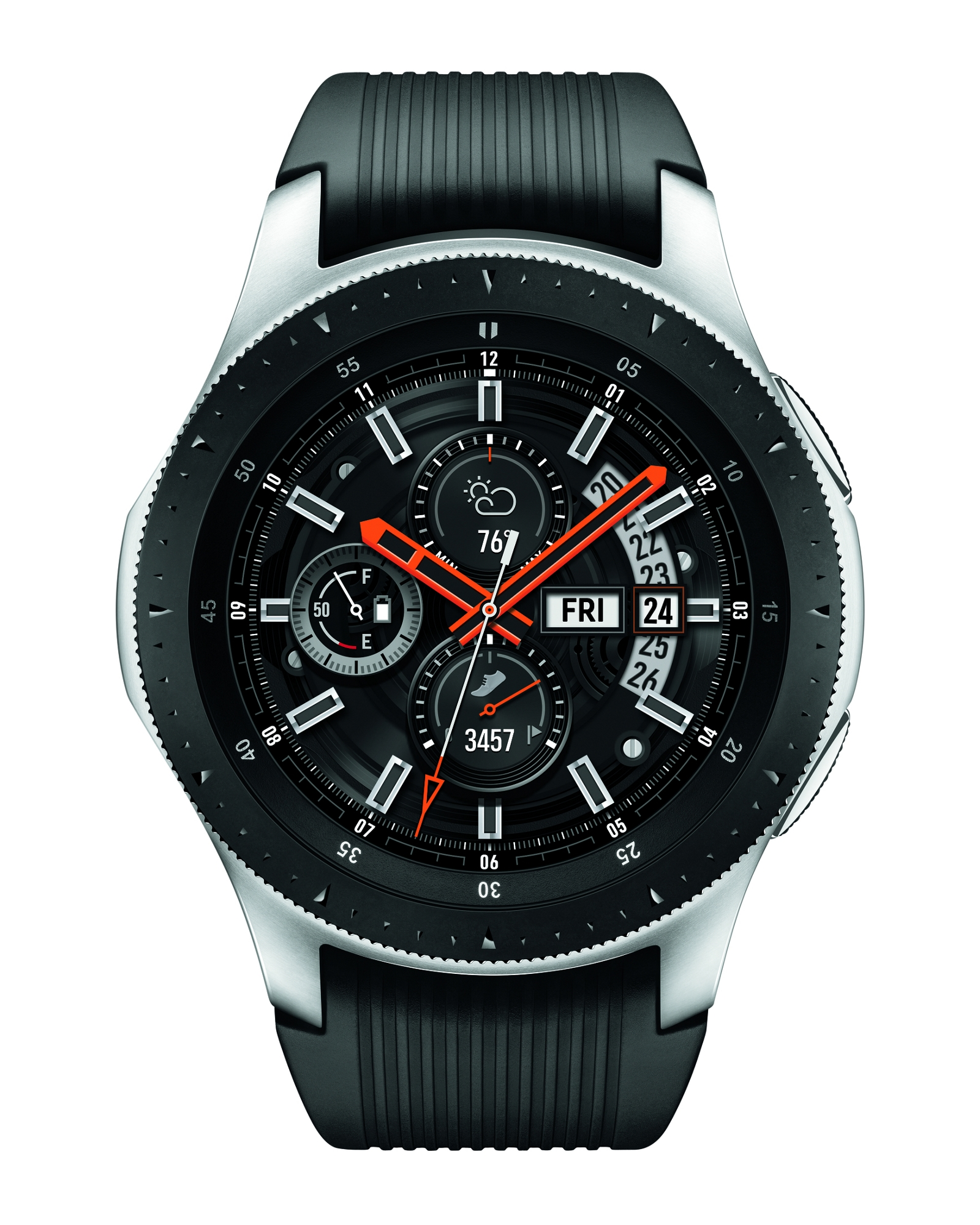 competitive price 9689e 5dcd1 Galaxy Watch (46mm) Silver (Bluetooth) Wearables - SM-R800NZSAXAR   Samsung  US