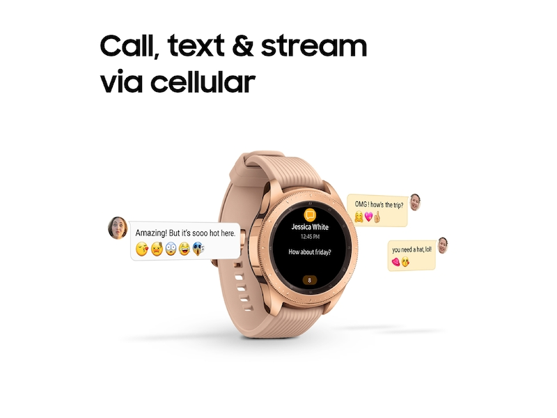 ac962a3c7 Rose Gold Samsung Galaxy Watch - 42mm Bluetooth