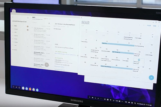 Using Multiple Apps Side by Side on Samsung DeX